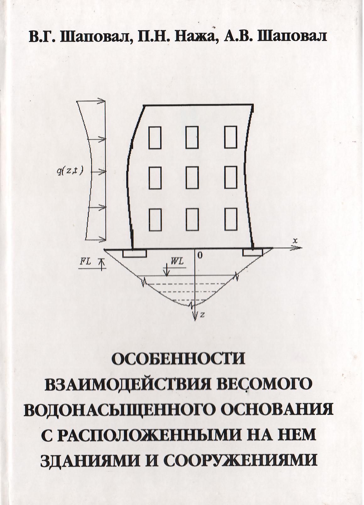 Особенности взаимодействия весомого водонасыщенного основания с расположенными на нем зданиями и сооружениями